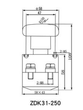 停开关适用于直流电压220v以下,电流250a~350a主电路的接通和分段使用