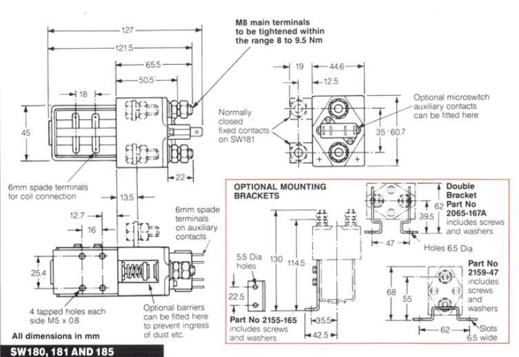 sw180系列直流接触器