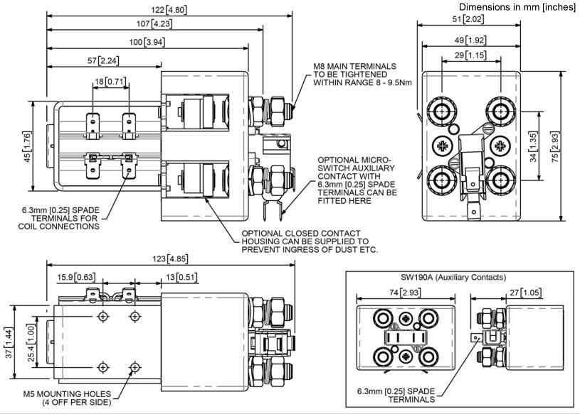 sw190系列直流接触器
